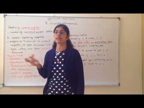 Working Capital - meaning and types Chapter 9 Business Studies Class 12