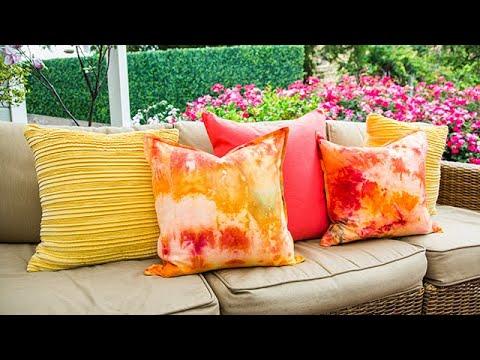 DIY Ice Dye Pillows - Home & Family