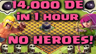 Clash of Clans - 14,000 Dark Elixir in 1 Hour NO HEROES Live Gameplay (Best Farming Strategy)