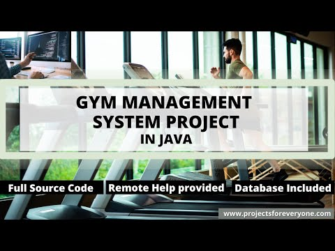 Gym (Health Club) Automation System Project in Java Swing, JDBC