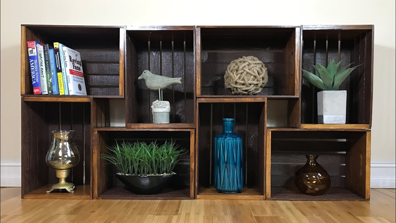 wooden crates as shelves diy wooden crate shelves 1250