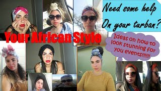 How to wear an african-style turban