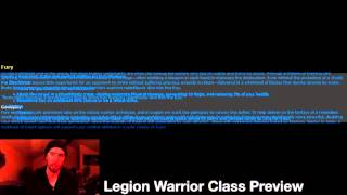 Legion Class Preview for Warriors+My Feedback