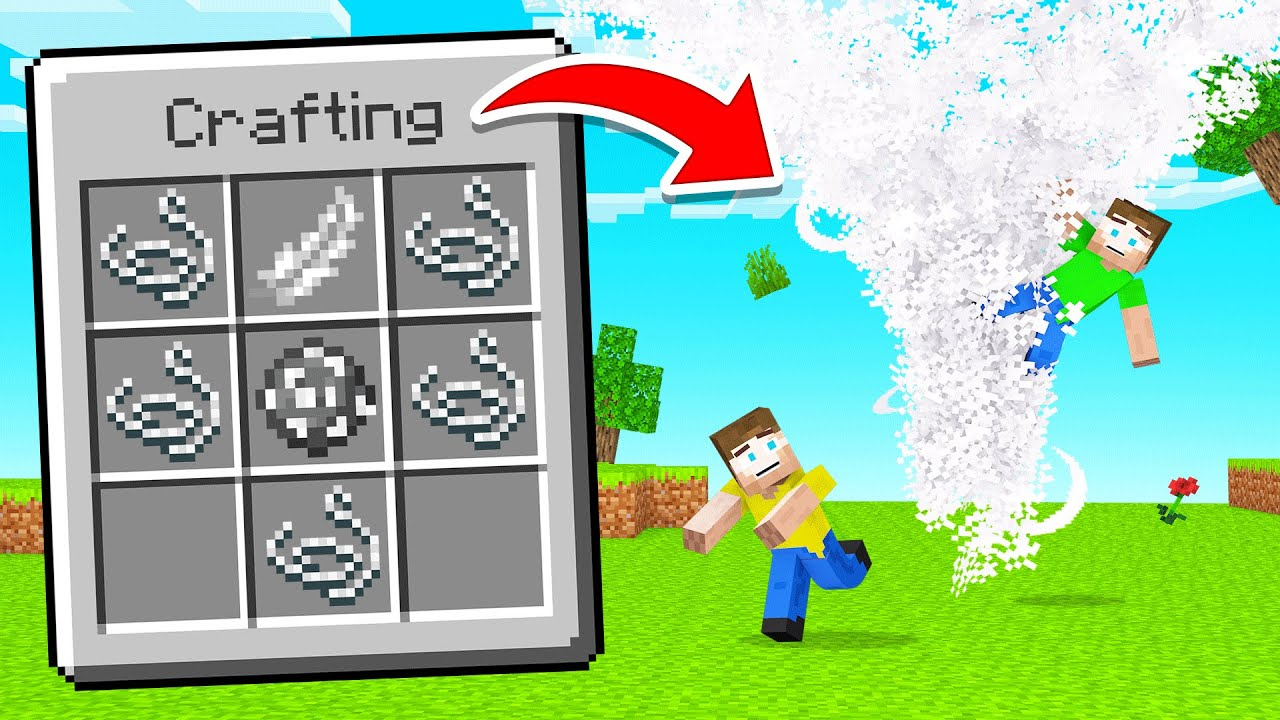 Minecraft, But You Can CRAFT NATURAL DISASTERS!