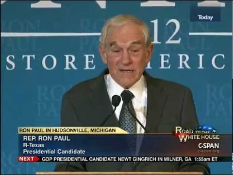 Ron Paul Speech (FULL) To Small Business Owners Hudsonville, MI 2/26/12