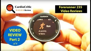 Forerunner 235 / 230 Part 2 - Exercise Mode - functions & features for running