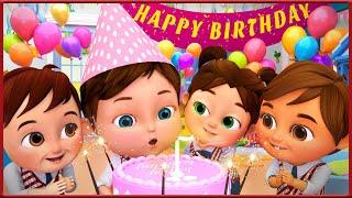 Happy Birthday Song , Baby Shark , Bingo School Dog Song , Wheels on the Bus - Banana Cartoon [HD]