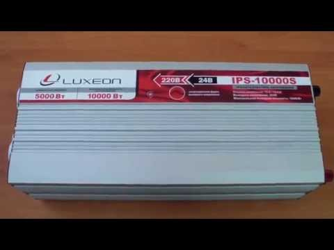 Инвертор напряжения Luxeon IPS-10000S, чистый синус, для солнечных панелей