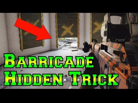 The HIDDEN BARRICADE Trick - Rainbow Six Siege Velvet Shell