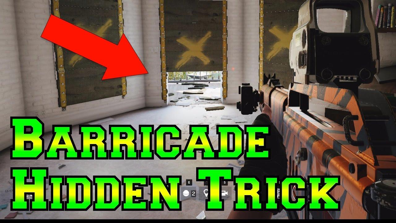The HIDDEN BARRICADE Trick – Rainbow Six Siege Velvet Shell