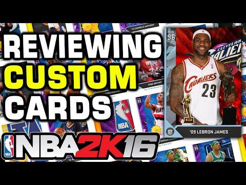 NBA 2K16 Custom myTeam Cards