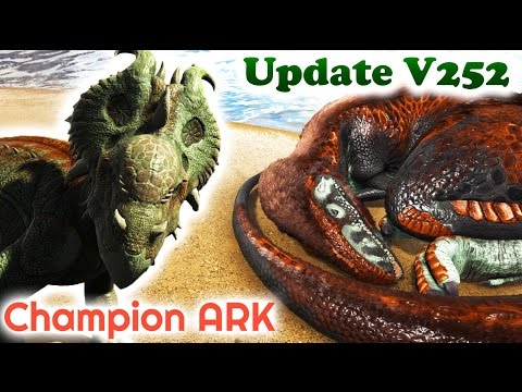 ARK MEGALOSAURUS, PACHYRHINO, ACHATINA & MOSCHOPS + CAVE UPDATE and much more!! Patch 252