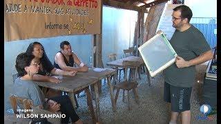 Moradores do Setor Pedro Ludovico participaram do Projeto Galhofada