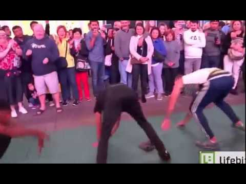 Break Dance Performance - Times Square, NYC