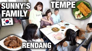 KOREAN FAMILY TRIES INDONESIAN FOOD FOR THE FIRST TIME IN KOREA | Their Reaction...OMG