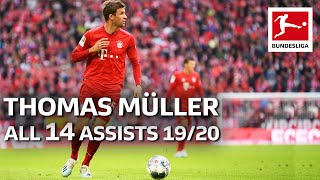 Thomas Müller - All Assists 2019/20 So Far From The Bundesliga's Assist King