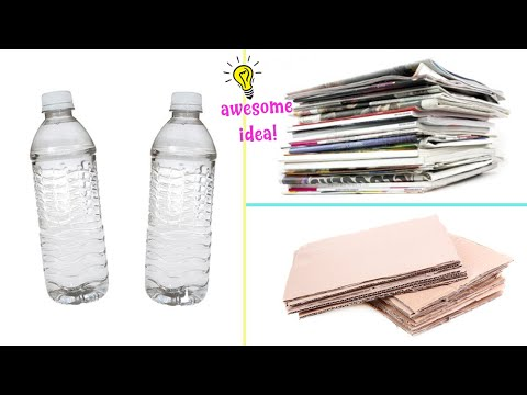 3 AWESOME AND EASY RECYCLED CRAFTS! CARDBOARD, PLASTIC BOTTLE, OLD MAGAZINE!