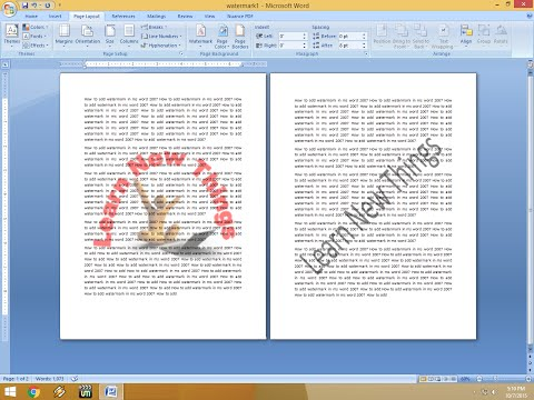 How to Insert Watermark in MS Word (Picture & Text)