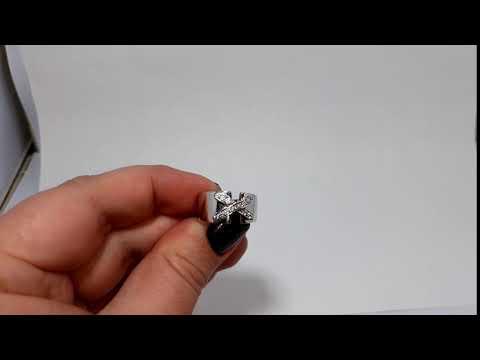 Кольцо реплика Chaumet Paris, серебро 925 пробы, родий, размер 17,5