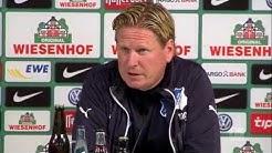 "Markus Gisdol lobt Werder-Fans: ""Wahnsinn!""   SV Werder Bremen - TSG 1899 Hoffenheim 3:1"