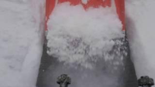 おもしろいくらい雪が溶ける融雪槽!!(Is melts snow much fun)