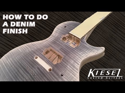 How To Finish A Guitar / Denim Burst Finish By Jeff Kiesel