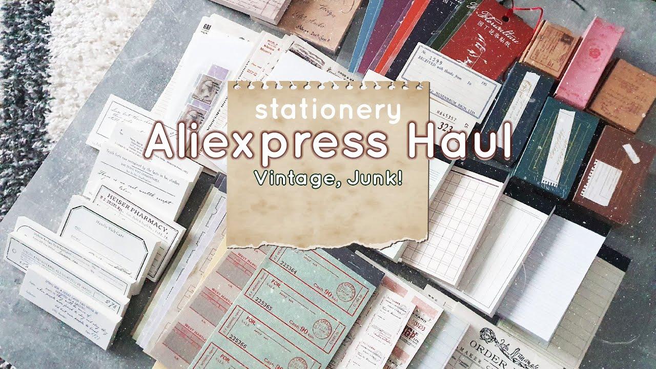 Aliexpress  Haul / 알리 하울 빈티지 다꾸템 / Vintage Stationery