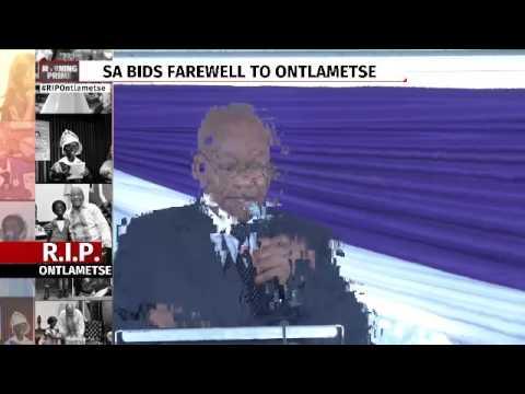 President Zuma's tribute to Ontlametse Phalatse