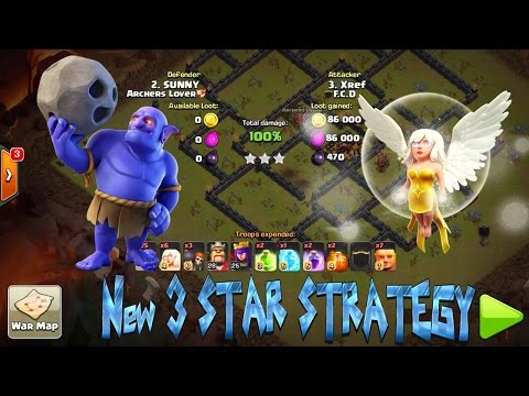 CLASH OF CLANS TH 10 BOWLER WALK 3 STAR ATTACK STRATEGY WITH LEVEL 1 BOWLERS..!!!