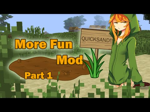 Minecraft 1.7.10 - More Fun Quicksand Mod Review Part 1