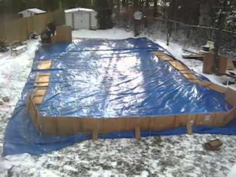 Backyard Hockey Rink - Backyard Hockey Rink - YouTube