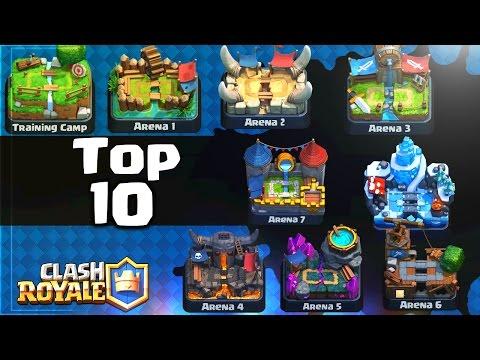 TOP 10 DE LAS MEJORES CARTAS POR ARENA!! - Clash Royale [WithZack]