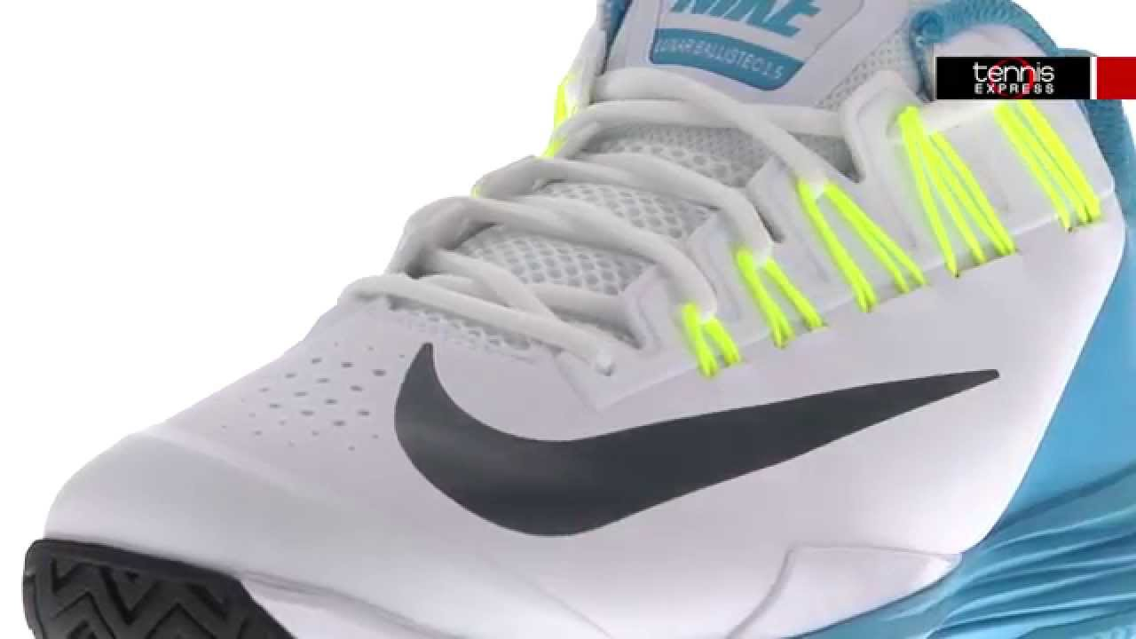 designer fashion 10b19 5b1fb Nike Men`s Lunar Ballistec 1.5 Shoes   Tennis Express - YouTube
