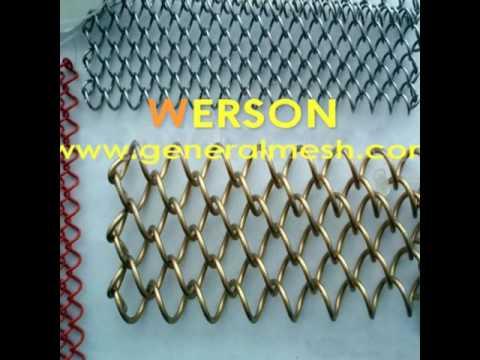 generalmesh  Architectural Drapery,woven wire metal drapery,coiled wire fabric