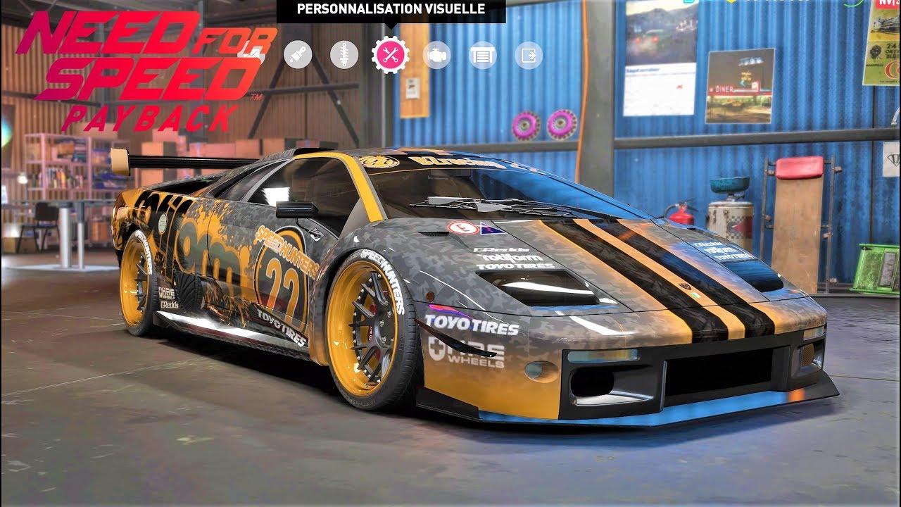 NFS Payback custom Lamborgini Diablo 1032HP