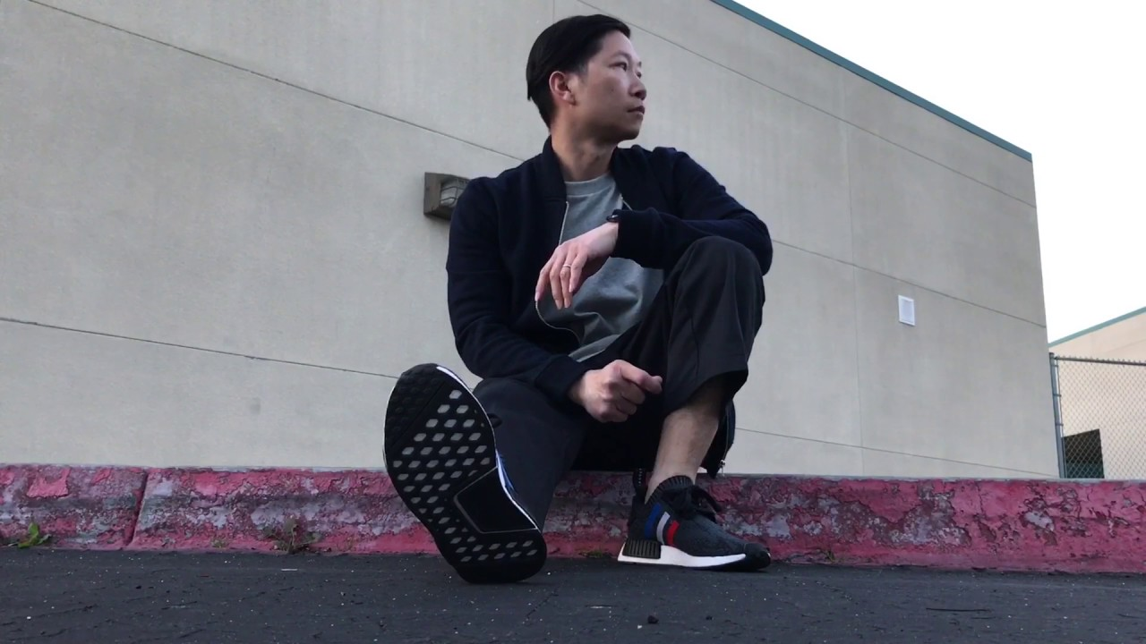 bba0c158fdac5 Adidas NMD Tri Color On Feet   Outfit - YouTube