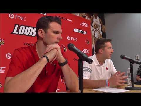 David Padgett introduces Greg Paulus as Louisville assistant
