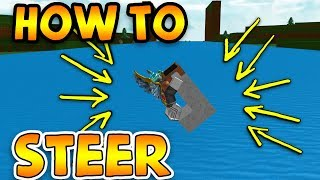 HOW TO STEER (GLITCH) | ROBLOX Build A Boat For Treasure (CONTROLL YOUR BOAT)
