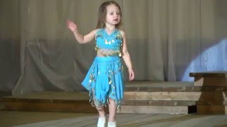 Детский танец живота - Анушик Манукарян (2 годика) -