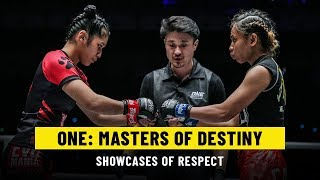 Shows Of Respect   ONE: MASTERS OF DESTINY