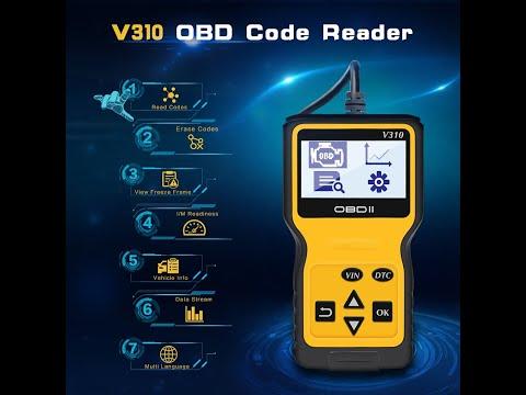 Ebay Amazon V310 OBD2 OBD II Code Reader Unboxing Review