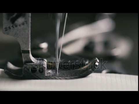 Stock Footage Super Slow Motion Of Vintage Sewing Machine Stitching Mesmerizing Vintage Sewing Machine Fabric