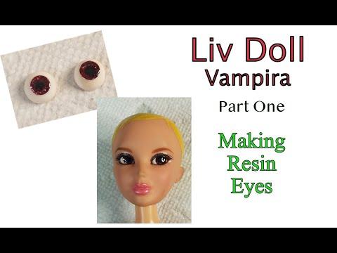 Liv doll Vampira - Part one - How to make resin eyes