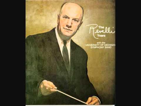 Robert Jager: CONCERTO FOR SAXOPHONE, 1st mvt. ~ George Etheridge soloist ~ U of M BAND/REVELLI