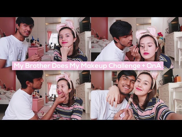 Beby Vlog #53 - My Brother Does My Makeup Challenge + QnA🤞🏻