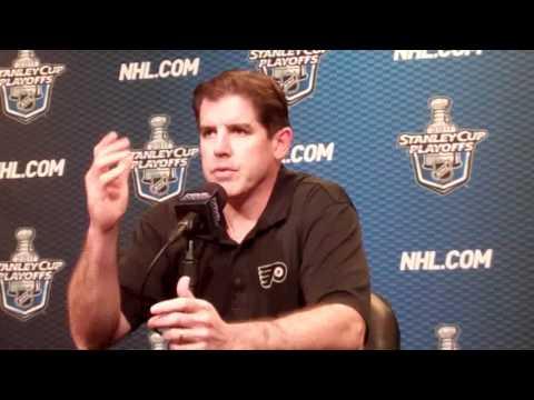 May 2 2011 Peter Laviolette NHL Pregame Philadelphia Flyers Boston Bruins.flv
