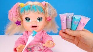 Разноцветные Волосы На Хелоувин Сара Идёт На Утренник Мультики Как Мама Играет в Куклы 108мама тв