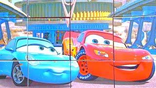 Тачки - собираем кубики пазлы для детей с героями мультика Молния Маквин - Lightning McQueen