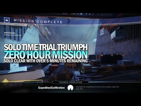 Solo Zero Hour Time Trial Triumph (Over 5 Minutes Remaining) [Destiny 2]