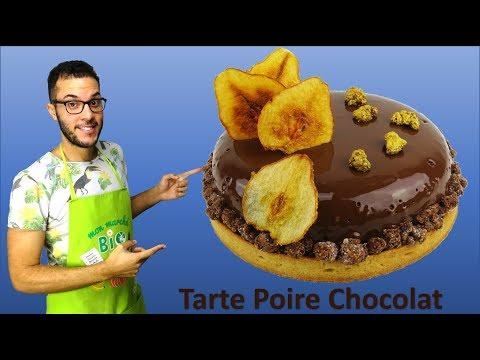 recette-tarte-entremet-poire-chocolat-/-pear-chocolate-tart-entremet-(en-subs)